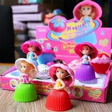 12 pièces/ensemble Mini dessin animé Cupcake princesse poupées jouets créatifs transformés mignon gâteau poupée beau jouet pour les filles cadeaux d'anniversaire