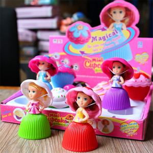 12pcs/Set Mini Cartoon Cupcake Princess Dolls Toys Creative Transformed Cute Cake Doll Beautiful Toy For Girls Birthday Gifts