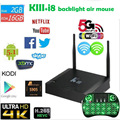 Kiii s905 2g 16g KODI16.0 kodi tv box amlogic Dual WIFI 2.4G y 5G BT4.0 Gigabit K3 tv box media player + teclado opcional