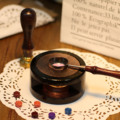 1PCS Melting Pot Furnace 1PCS Copper Spoon Vintage Retro Seal Tools Kit for Wax Stamp Sealing Wax