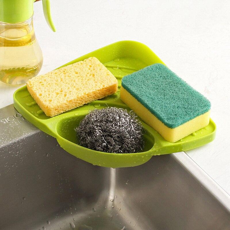 Kitchen Sink Shelf Soap Sponge Drain Rack Bathroom Holders Suction Cup Organizer Kitchen Sucker Storage Tools Wash Accessories