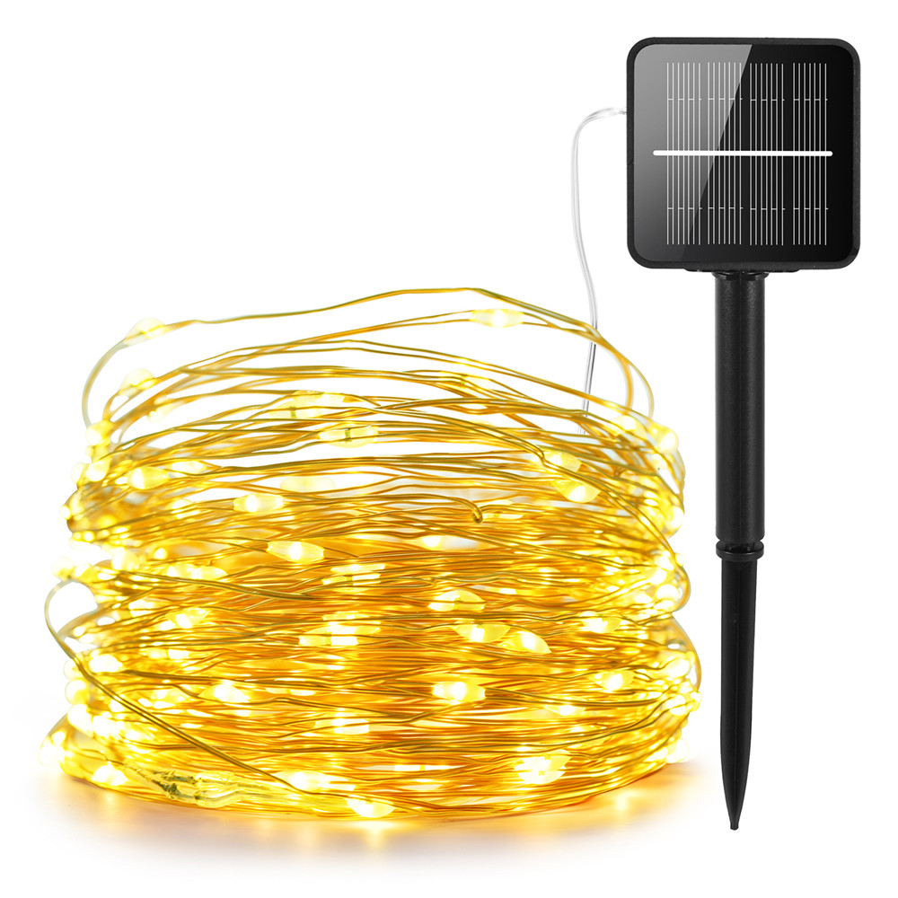 100 200 LEDs Outdoor Solar Lamps LED String Lights Fairy Holiday Christmas Party Garlands Solar Garden Waterproof Lights