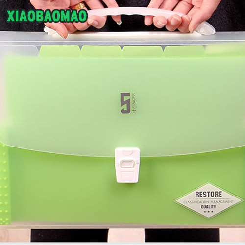 High Capacity Candy Colors 6 Layers A4 File Folder Document Bag School Office Supply Stationery