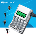 100% Original C903W Smart LCD Fast Four Slot Charger for NI-MH NI-CD AA/AAA Rechargeable Battery with AU EU US UK Plug