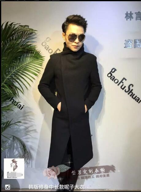 Automne Long Manteaux Dans Épaissie Et Hanban Hommes Le Manteau Trench style Black Veste Nouveau S 4xl De Grande Taille Laine Hiver xwCIZCOq0