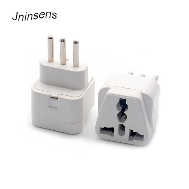 Universal Travel Adapter Electric Plugs Sockets Converter For Italy Compact 3 Pin Plug Portable