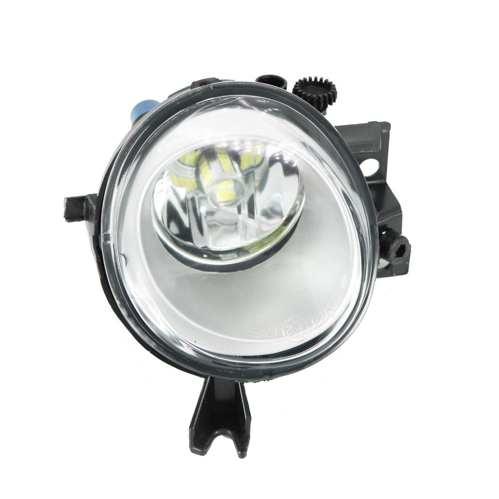 Car Styling LED Light For VW Touareg 2003 2004 2005 2006 2007 Left Side LED Front Bumper Fog Lamp Fog Light With Bulb front bumper fog lamp grille led convex lens fog light angel eyes for vw polo 2001 2002 2003 2004 2005 drl car accessory p364