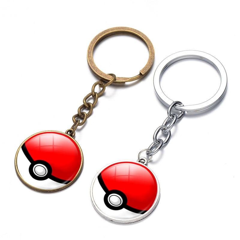 trendy-charm-glass-pikachu-font-b-pokemon-b-font-badge-harajuku-cabochon-key-chain-cartoon-costume-key-holder