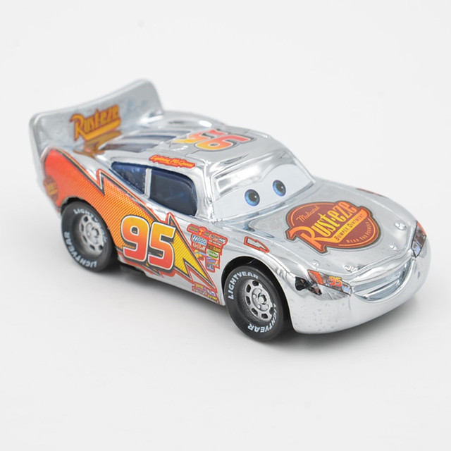 disney pixar cars silver lightning mcqueen jackson storm 1 55