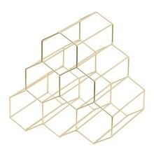 Креативный геометрический винный стеллаж, металлический простой бытовой винный стеллаж для винограда, для ресторана, гостиной, бара, винного шкафа, витрина для вина
