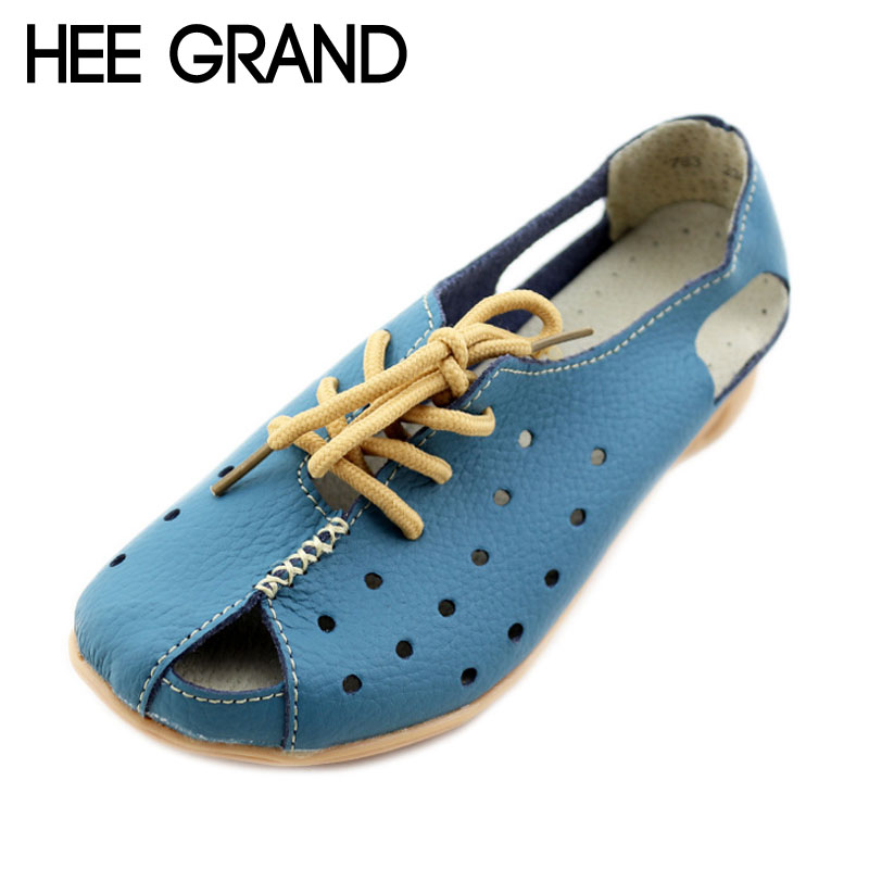 HEE GRAND Split Leather Sandals Summer Wedges Gladiator Sandals Platform Shoes Woman Lace-Up Breathable Women Shoes XWZ2761 hee grand lace up gladiator sandals 2017 summer platform flats shoes woman casual creepers fashion beach women shoes xwz4085