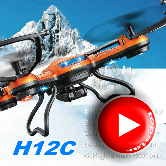 JJRC H12C 2.4G 4CH 6-Axis RC LED Quadcopter Drone Helicopter With 300M Remote Distance C ...