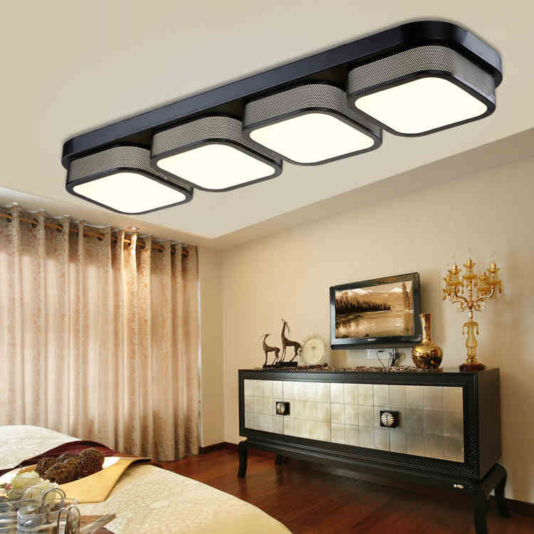 Long hollow lampshade LED ceiling lamp living room bedroom dining room study aisle lights commercial places Ceiling light90-240V creative star moon lampshade ceiling light 85 265v 24w led child baby room ceiling lamps foyer bedroom decoration lights