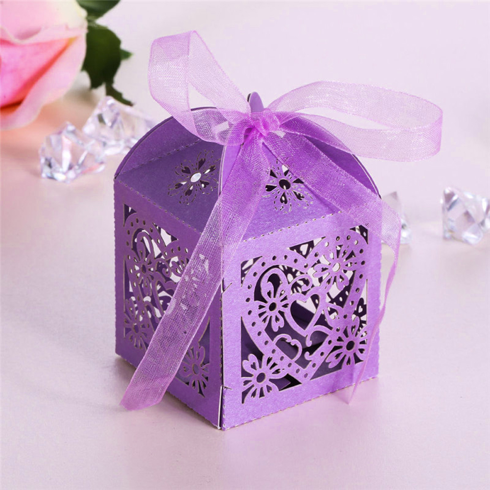 WITUSE WX Wedding Invitations Mariage 50pcs Floral Laser Cut Party ...