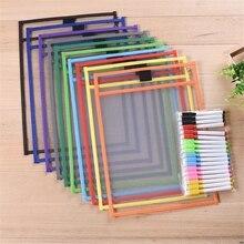 Прозрачный мешок для сухой щетки может быть использован повторно с пвх пэт письма сухой мешок для протирания игрушки для рисования для детей взрослых