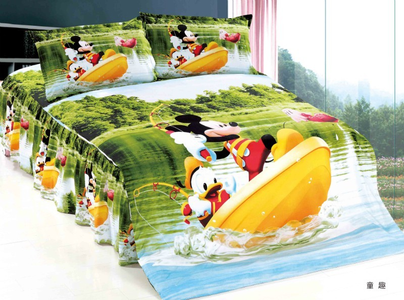 mickey mouse Donald Duck comforter bedding sets single twin size quilt duvet covers sheets cotton 400TC Childrens boys bedroommickey mouse Donald Duck comforter bedding sets single twin size quilt duvet covers sheets cotton 400TC Childrens boys bedroom