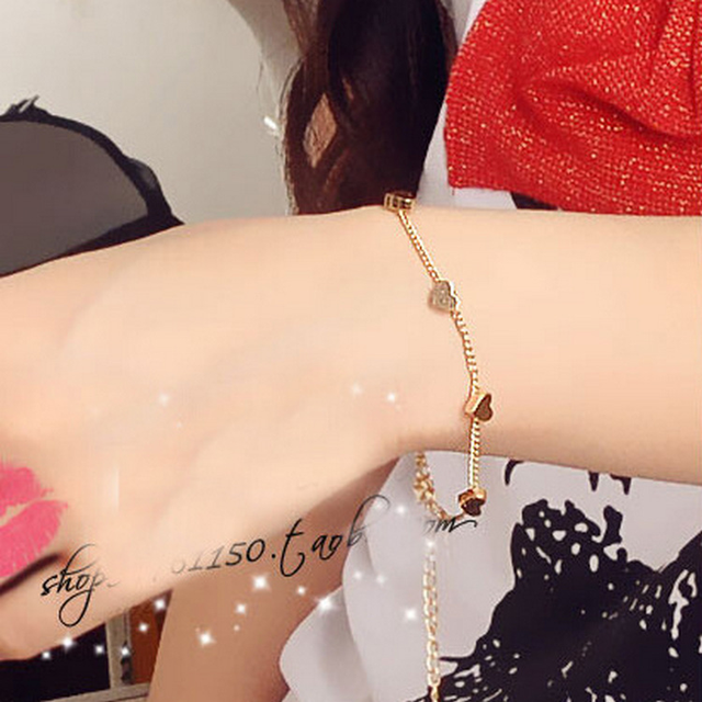 Mossovy Gold Heart Bracelet For Female Charm Friendship Star Gold Bracelet for Women Accessories Minimalist Jewelry Sieraden