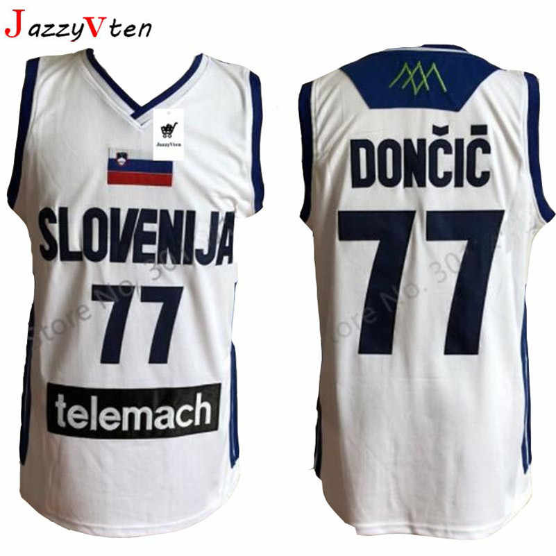 sports shoes b4d3f ac38c movie Mens Jersey Cheap Throwback Basketball Jersey slovenija Retro  Stitched Shirts Europe Sports Luka Doncic JERSEYS