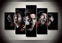 Great Poster Of Football Player Of Messi Suarez HD High Quality Canvas Arts For Stadium Decor