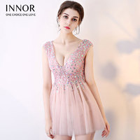 Diamonds Ball Gown Chiffon Women's elegant short gown party proms for gratuating date ceremony gala cocktails dresses