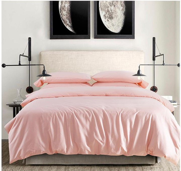 2015 100 Egyptian Cotton Light Pink Bedding Set Sheets