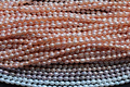 Wholesale 8mm Real pearl Oval Bead 100% Natural pearl highlight pearl 37cm Length Loose Beads For Women Jewelry Gift 3 Colors