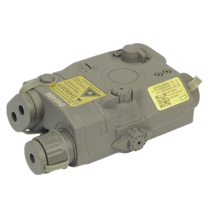 Tactical flahlight PEQ 15 LA-5 Battery Case battery box + green laser for 20 mm Black DE FG 547