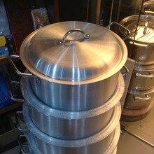 5 шт./компл. толстый набор алюминиевых кастрюль многоцелевой кастрюля для супа, набор кухонной посуды panela инструменты для приготовления пищи большой цветочный горшок