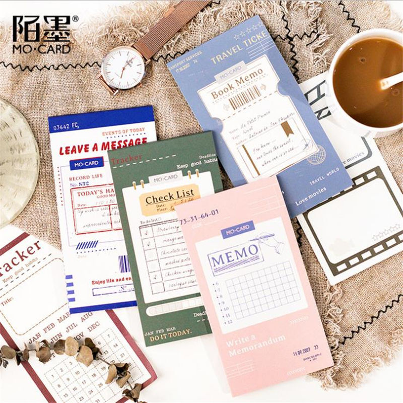Coloffice Korean Memo Pads Multi-function Note Series Portable Plan Word Note Paper Message Strip Stationery Office Supplies 1PC plan