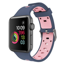 Colorido Esportes Relógio Faixa De Relógio de Substituição de Silicone Macio Para Apple Todas As Séries Acessórios Pulseira Bracelete de Pulso Smartwatch