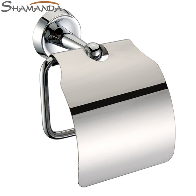 free shipping bathroom accessories product solid brass chrome toilet paper holderroll holdertissue - Bathroom Accessories Toilet Paper Holders