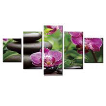 Fashion Framed Wall Decorations 5pcs / Set Modern Still life flower series Canvas Print Artist Decoration