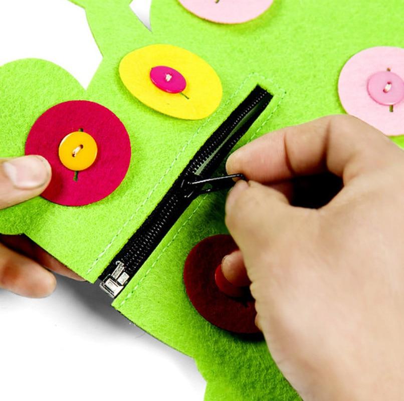 1pc Hand Zipper Button Teaching Kindergarten Manual Diy Weave Cloth Early  Education Toys Montessori Teaching Aids Math Toys #6