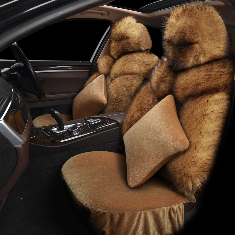 Warm man-made Fox Fur General Car Seat Cushions Car Styling Car Seat Cover For BMW Audi Toyota Honda Ford All Sedan