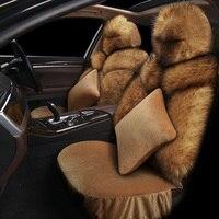 Warm man made Fox Fur General Car Seat Cushions Car Styling Car Seat Cover For BMW Audi Toyota Honda Ford All Sedan