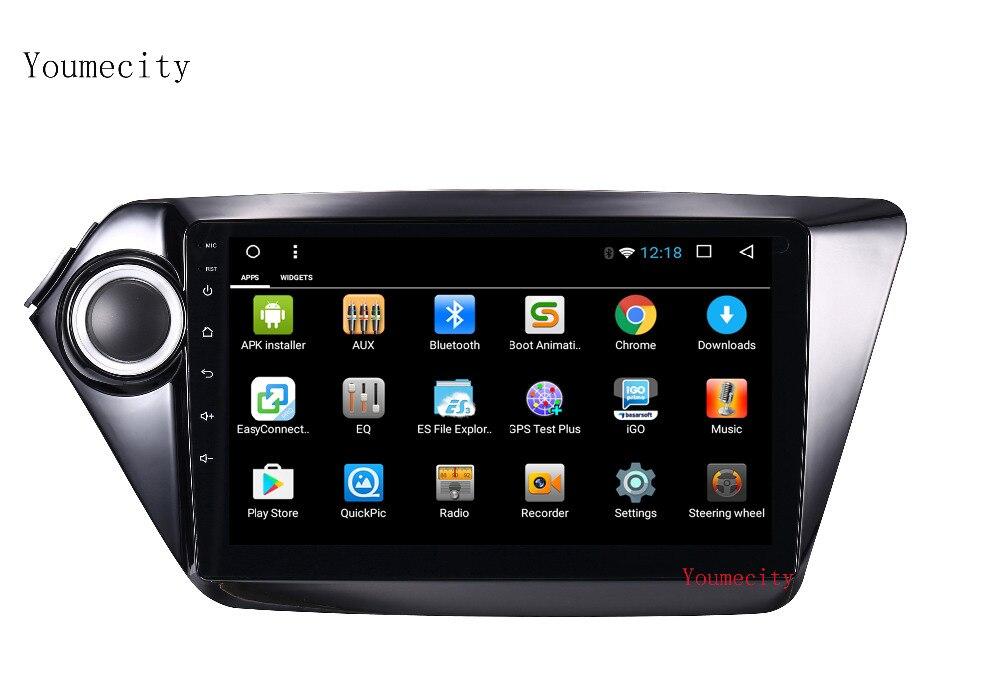 Youmecity 2G RAM 9 pouce octa base Android 7.1 Voiture dvd gps pour Kia k2 RIO 2010 2011 2012 2013 2014 2015 radio vidéo lecteur + 32G