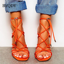 BYQDY Sexy Womens High Heel Sandals Shoes Platform Hollow Thin Heels Female Party Plus Size 35-42 Black Brown