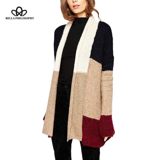Bella Philosophy 2016 autumn winter scarf collar fashion decoration Spell color sweater