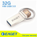 EAGET Official V90 32Gb G USB Flash Drive USB 3.0 OTG Smartphone Pen Drive Micro USB Storage Memory Metal USB Disk Storage Stick