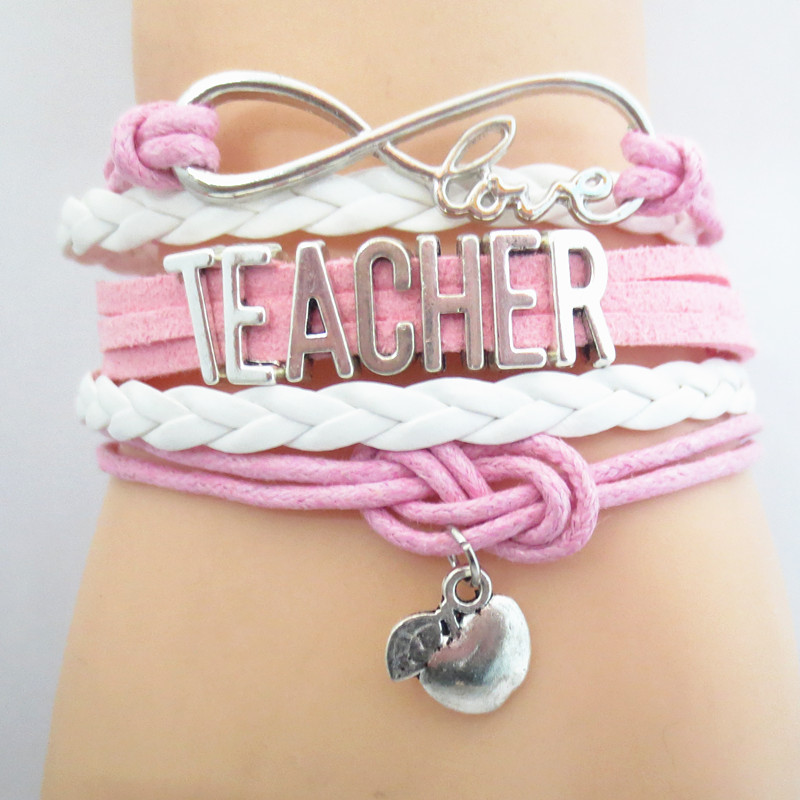 Infinity Love Teacher Team Bracelet Custom Sports Friendship Bracelets B09460 61 In Charm From Jewelry Accessories On Aliexpress Alibaba
