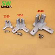 4pcs 3D printer 2020 3030 4040 T Slot Aluminum Profile 3-way 90 deg inside corner bracket Interior Connector f Alu-profile cheap SWMAKER Hand Tool Parts T Slot corner REPRAP for 2020 3030 4040 aluminum profile frame 3D printer use