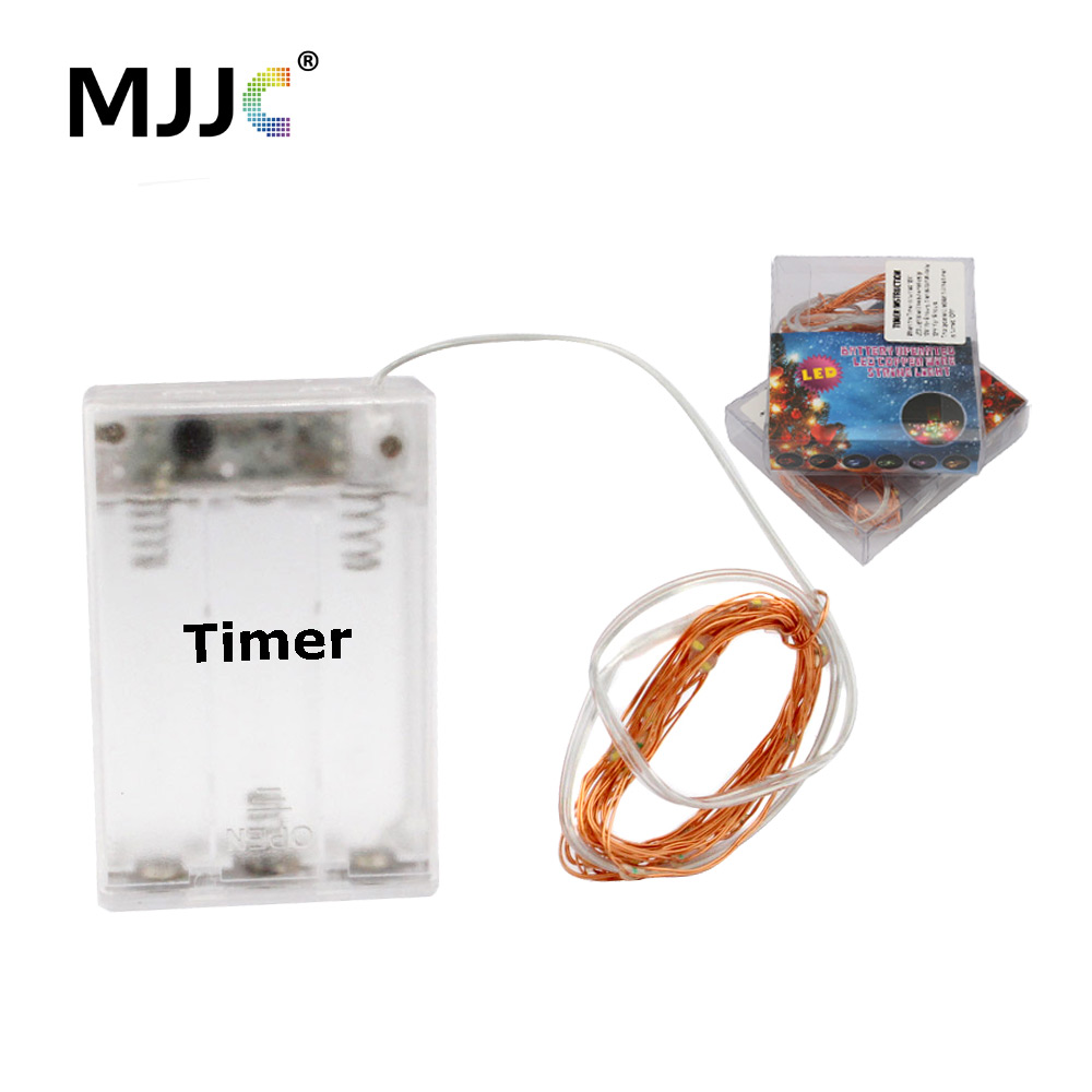 LED Battery Operated Fairy Lights 2M 20 Bulbs Christmas Mariage Party Wedding Decorations Timer Copper Wire Fairy String Lights