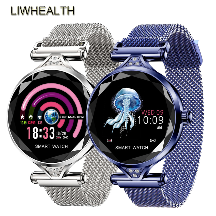 Fashion Smart Watch Women/Femal/Girl Health Fitness HR/BP Reloj Inteligente Smartwatch Fit For Apple/Xiaomi/Samsung VS Bip/IWO 5