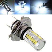 1pc H4 5630 33LED 12V 30W 800LM 6500K High Brightness Car Fog Light Headlight Bulb White Driving