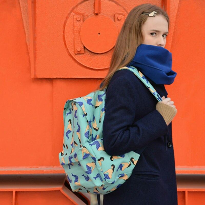 YIZISTORE Canvas backpacks for teenage boys girls with printing 4 patterns FUN KIK