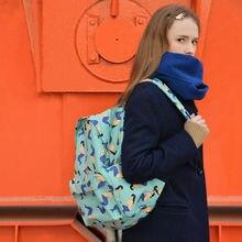 YIZISTORE Leinwand rucksäcke für teenager jungen mädchen mit druck-4 muster [SPAß KIK]