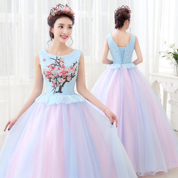 Vestido De Quinceañera Hinchado Vestido De Fiesta Floral