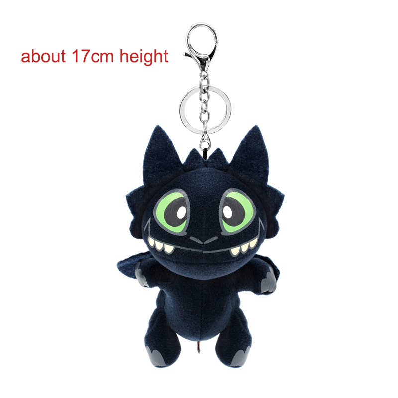 Cute How to Train Your Dragon Night Fury Keychain Funny Plush Doll Bag Pendant Jewelry Llavero Pompon Kid toys gift