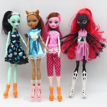 1pcs High Quality Fasion Monster Dolls Draculaura/Clawdeen Wolf/ Frankie Stein / Black WYDOWNA Spider Moveable Body Girls Toys