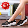 HOT 2016 Lace Casual Women's Shoes Summer Hollow Breathable Massage Female Platform Shoes  Fashion Women Wedge Zapatos Mujer